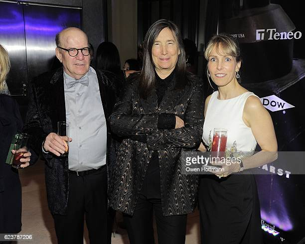 David Levinthal Jenny Holzer and LaVon Kellner attend Royal Academy America Gala Honoring Norman Foster and Jenny Holzer at Hearst Tower on November...