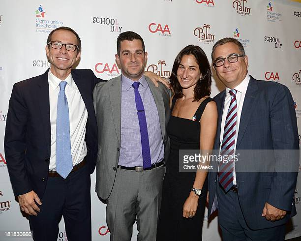 David Levitt Dave Bugliari CIS Executive Director Deborah Marcus and Rick Kurtzman arrive at a lunch for Creative Artists Agency Celebrates School...