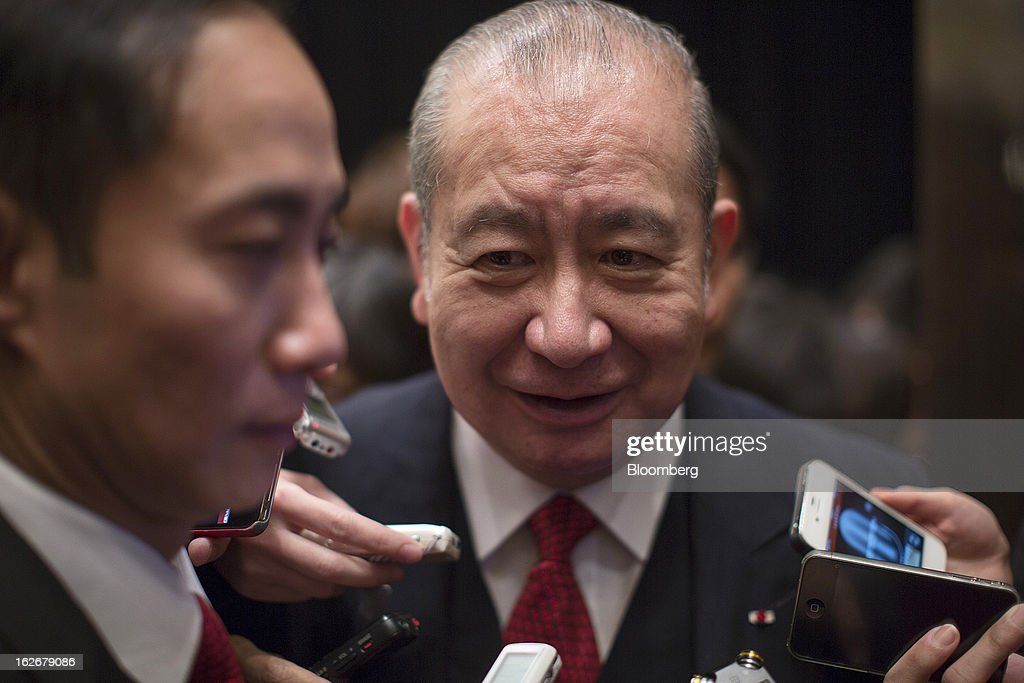 David Li, chairman and chief executive officer of Bank of East Asia Ltd. (BEA), speaks to the media following the company's annual results news conference in Hong Kong, China, on Tuesday, Feb. 26, 2013. Bank of East Asia, Hong Kong's largest family-run lender, said 2012 profit jumped 39 percent as trading income climbed, helping offset a decline in profit from the mainland China business. Photographer: Jerome Favre/Bloomberg via Getty Images