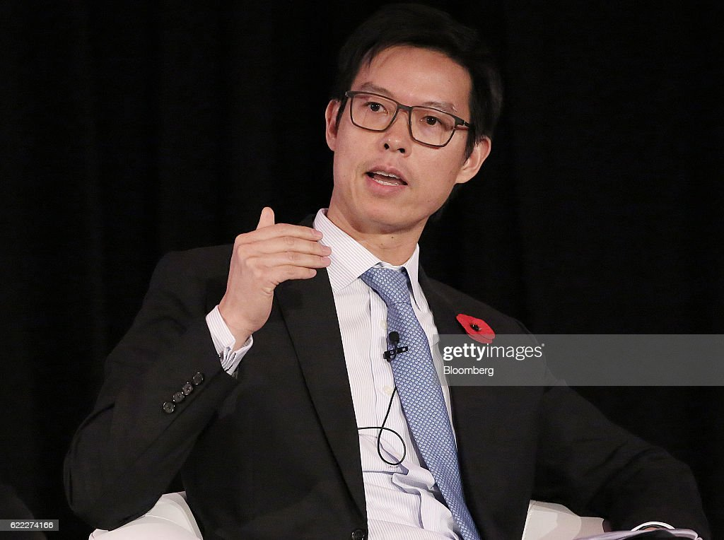 David Liao, chief executive officer of HSBC Bank China Co , gestures