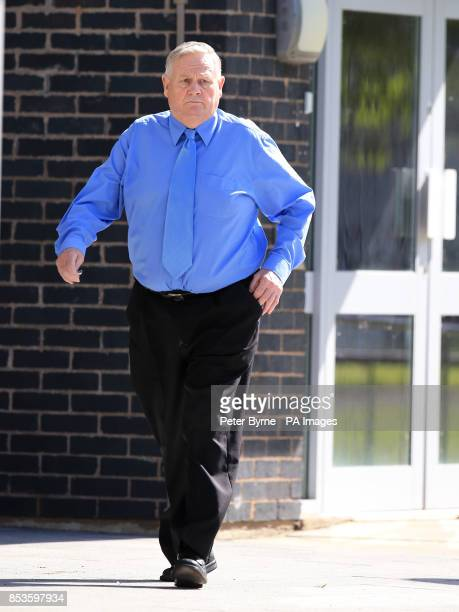 David Lightfoot from Ellesmere Port arrives at Mold Magistrates Court Flintshire North Wales where he appeared accused of sex offences after an...