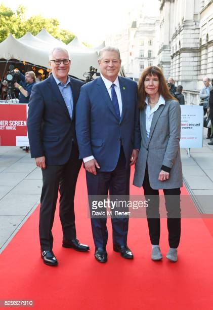 David Linde CEO of Participant Media Former US Vice President Al Gore and producer Diane Weyermann attend the Film4 Summer Screen Opening Screening...
