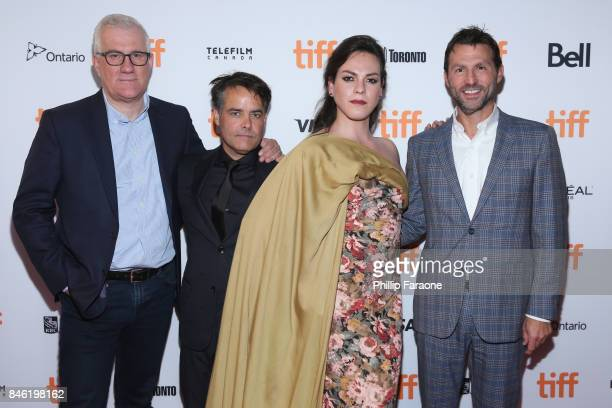 David Linde director Sebastian Lelio Daniela Vega and guest attend the 'A Fantastic Woman' premiere during the 2017 Toronto International Film...