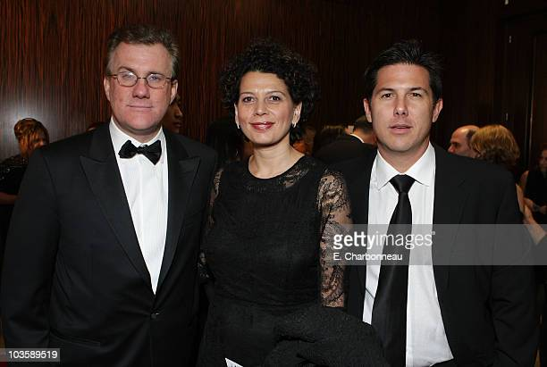 David Linde Donna Langley and Dylan Clark at AMC's 22nd Annual American Cinematheque Award at the Beverly Hilton Hotel on October 12 2007 in Beverly...