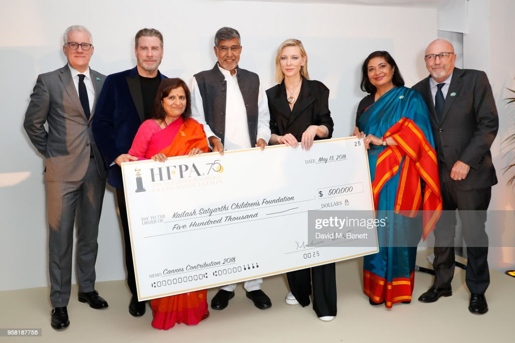 HFPA & Particpant Media Honor The Kailash Satyarthi Children's Foundation At Nikki Beach In Partnership With Renault In Cannes 2018