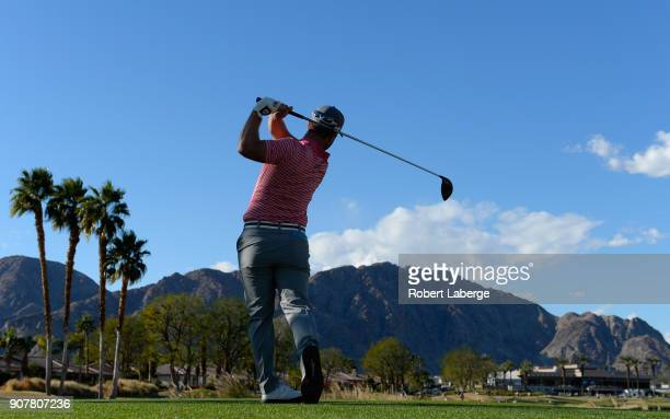 David Lingmerth of Sweden during the third round of the CareerBuilder Challenge at the Jack Nicklaus Tournament Course at PGA West on January 20 2018...