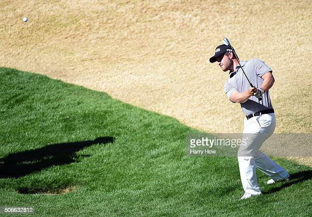 David Lingmerth of Sweden plays a shot from the rough on the fifth hole during the final round of the CareerBuilder Challenge In Partnership With The...