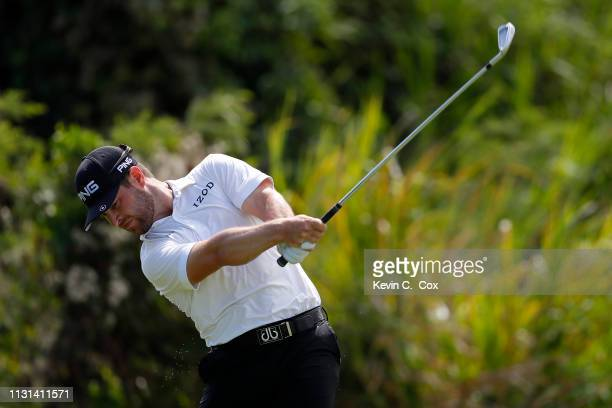 David Lingmerth of Sweden plays his shot from the eighth tee during the second round of the Puerto Rico Open at Coco Beach Golf and Country Club on...