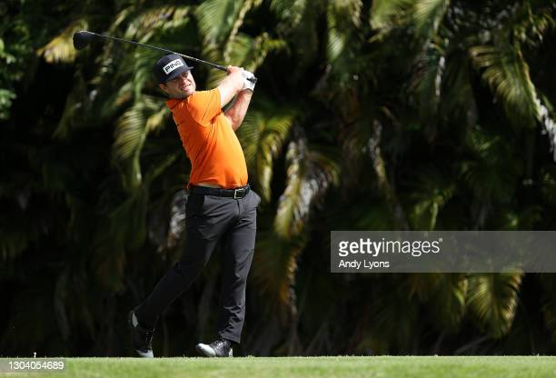 David Lingmerth of Sweden plays his shot from the fourth tee during the first round of the Puerto Rico Open at Grand Reserve Country Club on February...