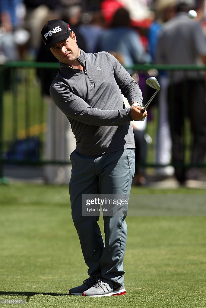 David Lingmerth of Sweden practices prior to the third round of the 2016 RBC Heritage at Harbour Town Golf Links on April 16, 2016 in Hilton Head Island, South Carolina.