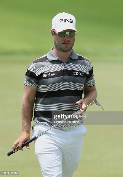 David Lingmerth of Sweden prepares to putt on the sixth hole during round three of the Corales Puntacana Resort Club Championship on March 24 2018 in...