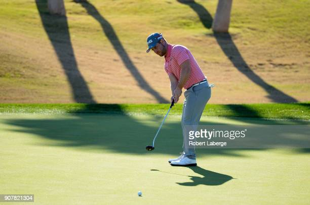 David Lingmerth of Sweden putts on the 17th green during the third round of the CareerBuilder Challenge at the Jack Nicklaus Tournament Course at PGA...