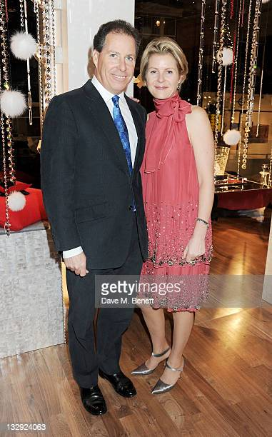 David Linley and Serena Linley attend the Linley Christmas Party on November 15 2011 in London England