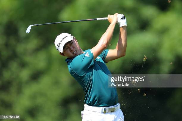 David Lipsky of the United States hits his second shot on the 10th hole during day one of the BMW International Open at Golfclub Munchen Eichenried...