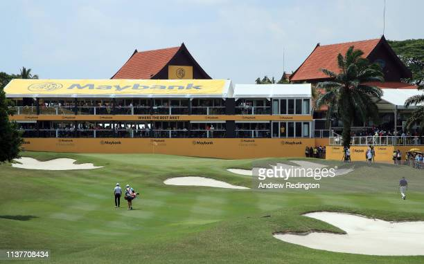 David Lipsky of the United States in action on Day Three of the Maybank Championship at Saujana Golf Country Club Palm Course on March 23 2019 in...