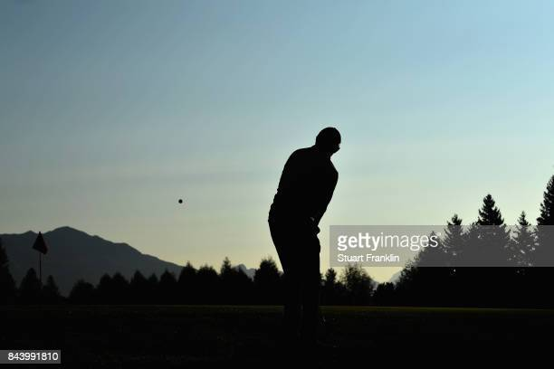 David Lipsky of The United States on the 10th during Day Two of the 2017 Omega European Masters at CranssurSierre Golf Club on September 8 2017 in...