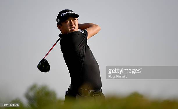 David Lipsky of the United States on the 3rd tee during the second round of the Abu Dhabi HSBC Championship at Abu Dhabi Golf Club on January 20 2017...