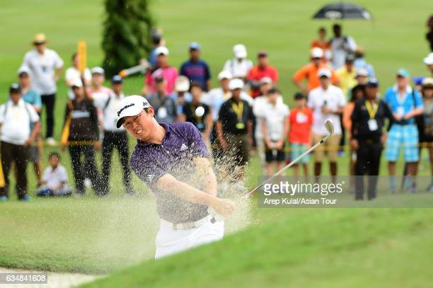 David Lipsky of USA pictured during final round of the Maybank Championship Malaysia at Saujana Golf and Country Club on February 12 2017 in Kuala...