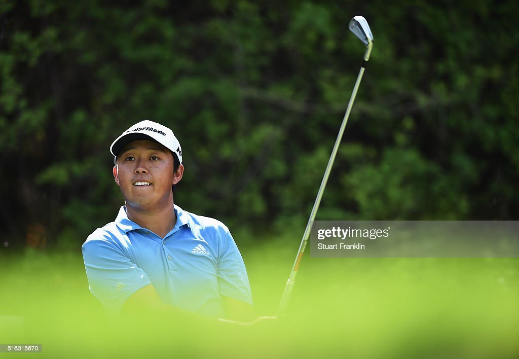 David Lipsky of USA plays a shot during the second round of the Hero Indian Open at Delhi Golf Club on March 18, 2016 in New Delhi, India.