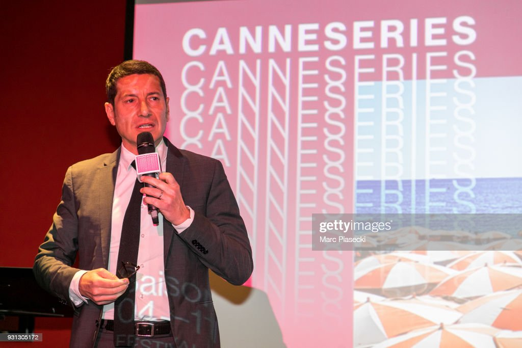 David Lisnard attends the 'CanneSeries 2018' press conference on March 13, 2018 in Paris, France.