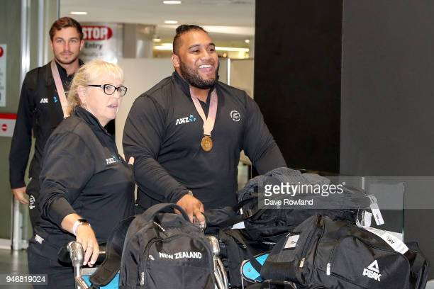 David Liti gold medal for Weightlifting during the Welcome Home Function at Novotel on April 16 2018 in Auckland New Zealand