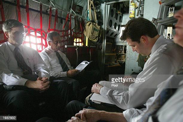 David Litt political advisor to US General Tommy Franks Zalmay Khalilzad White House special envoy to Iraq Larry Dirita US Secretary of Defense Chief...