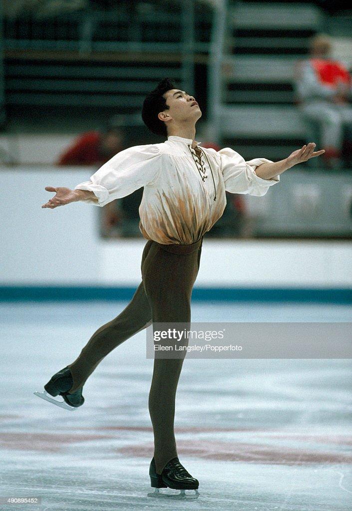 David Liu - Albertville Olympics : News Photo