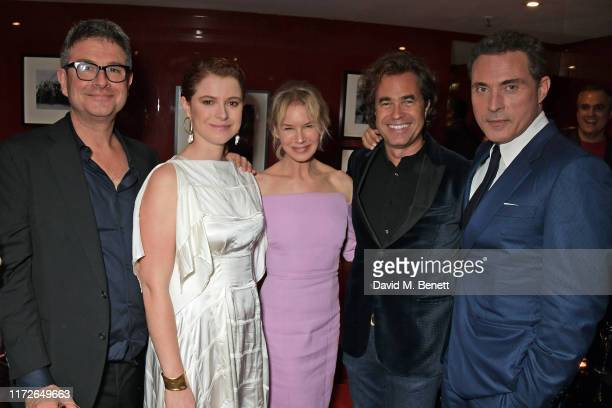 David Livingstone Jessie Buckley Renee Zellweger Rupert Goold and Rufus Sewell attend the Judy European Premiere after party at JW Marriott Grosvenor...