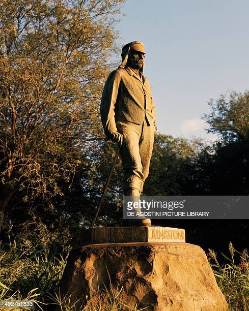 David Livingstone Memorial statue at Victoria Falls Zimbabwe