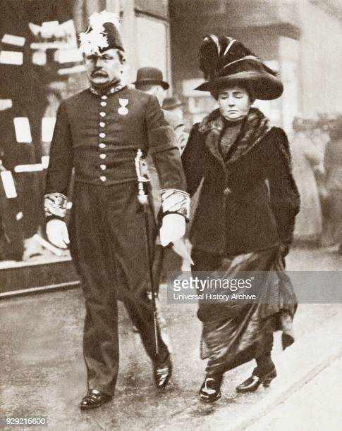 David Lloyd George 1st Earl LloydGeorge of Dwyfor 1863 – 1945 seen here with his first wife Dame Margaret Lloyd George1866 – 1941 née Margaret Owen...