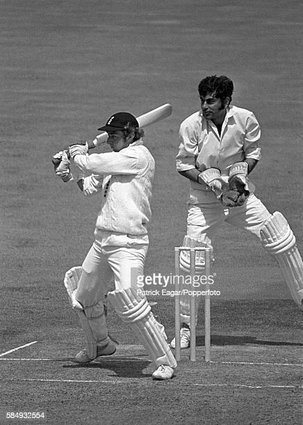 David Lloyd of England during his 214 not out in the 3rd Test match between England and India at Edgbaston Birmingham 6th July 1974 The wicketkeeper...