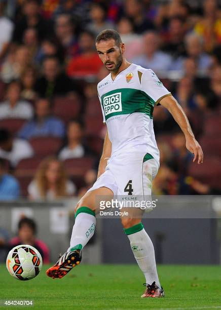 David Lomban of Elche CF in action during the La Liga match between FC Barcelona and Elche FC at Camp Nou stadium on August 24 2014 in Barcelona Spain