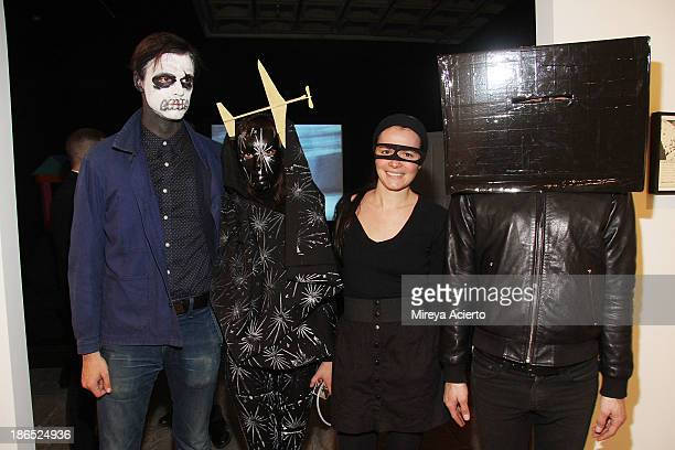 David Longstreth Teresa Dorothea Clara Claus and Justin Davis Anderson attend the Rituals Of Rented Island Halloween party and preview at The Whitney...