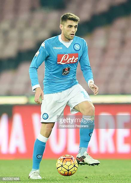 David Lopez of Napoli in action the TIM Cup match between SSC Napoli and Hellas Verona FC at Stadio San Paolo on December 16 2015 in Naples Italy