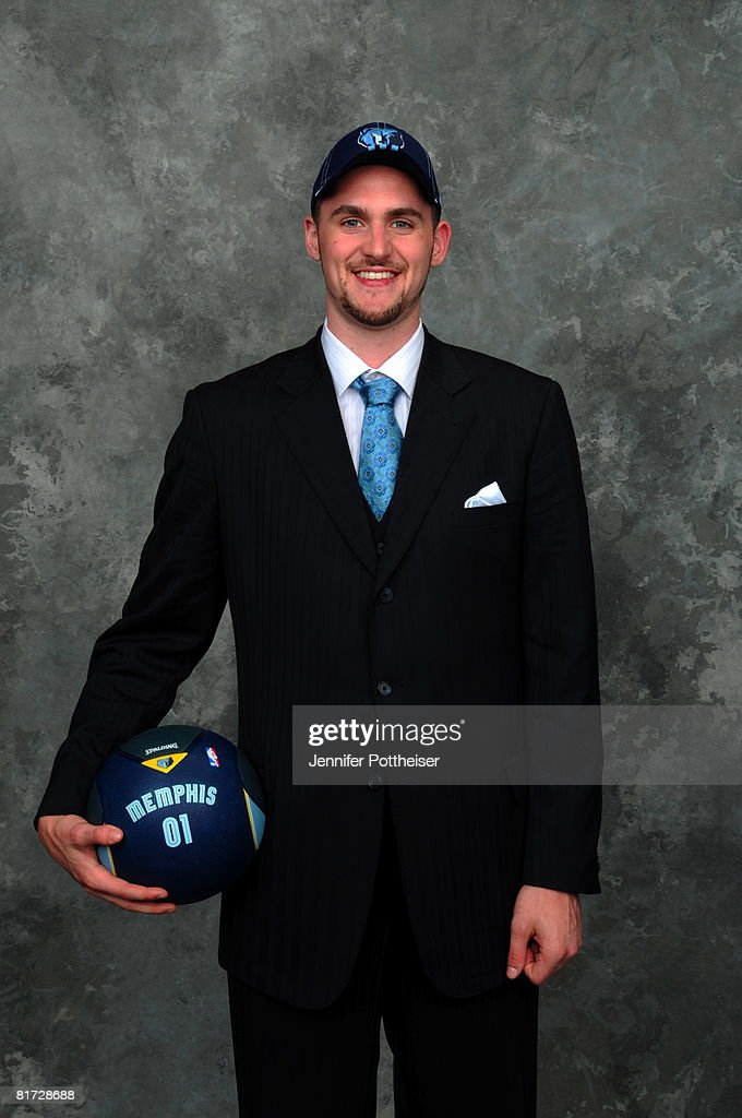 David Love selected number five overall by the Memphis Grizzlies poses for a portrait backstage during the 2008 NBA Draft on June 26, 2008 at the WaMu Theatre at Madison Square Garden in New York City.