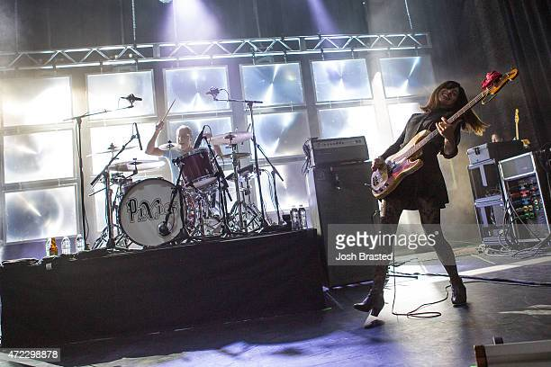 David Lovering and Paz Lenchantin of The Pixies performs at the Civic Theatre on May 5 2015 in New Orleans Louisiana