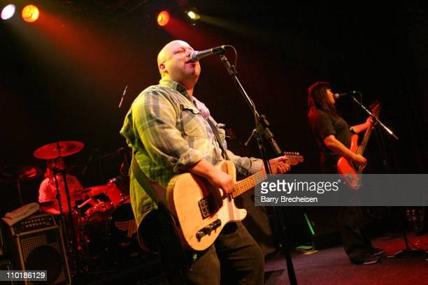 David Lovering Frank Black and Kim Deal of The Pixies performing their first show in 12 years