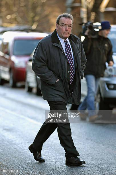 David Lowrie leaves Lanark Sheriff Court after giving evidence at the fatal accident inquiry into the helicopter crash that killed Colin McRae and...