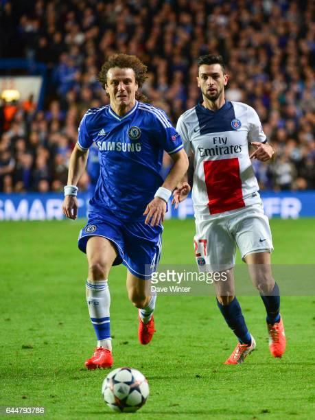 David LUIZ / Javier PASTORE Chelsea / Paris Saint Germain 1/4Finale Retour Champions League Londres Photo Dave Winter / Icon Sport