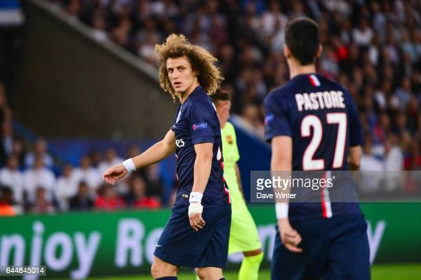 David LUIZ / Javier PASTORE Paris Saint Germain / Barcelone 1/4Finale Aller Champions League Photo Dave Winter / Icon Sport