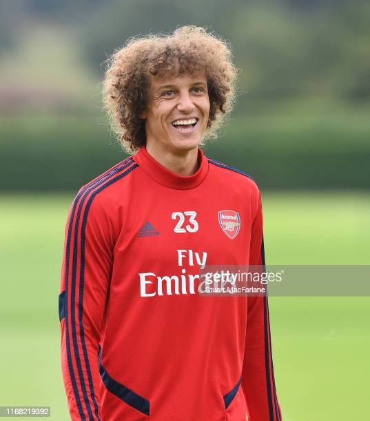 David Luiz of Arsenal during a training session at London Colney on August 15 2019 in St Albans England