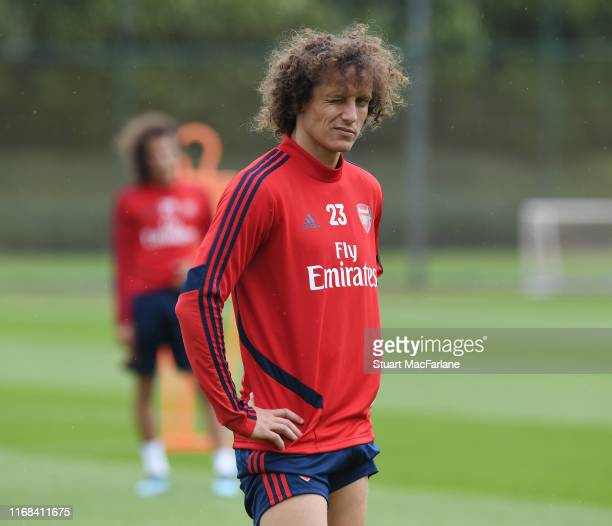 David Luiz of Arsenal during a training session at London Colney on August 16 2019 in St Albans England