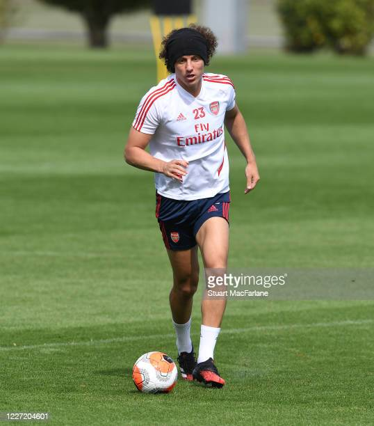 David Luiz of Arsenal during a training session at London Colney on May 26 2020 in St Albans England