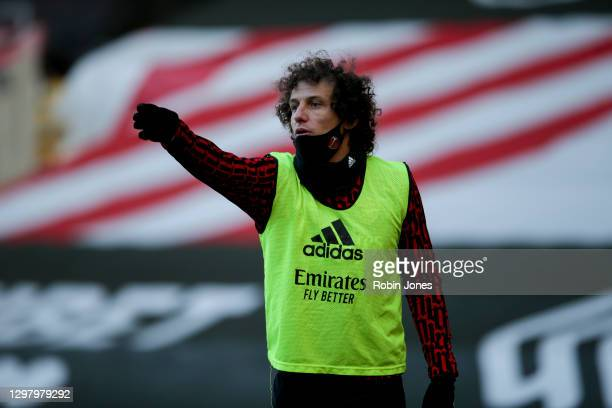 David Luiz of Arsenal during Southampton v Arsenal, The Emirates FA Cup Fourth Round, on January 23, 2021 in Southampton, England. Sporting stadiums...