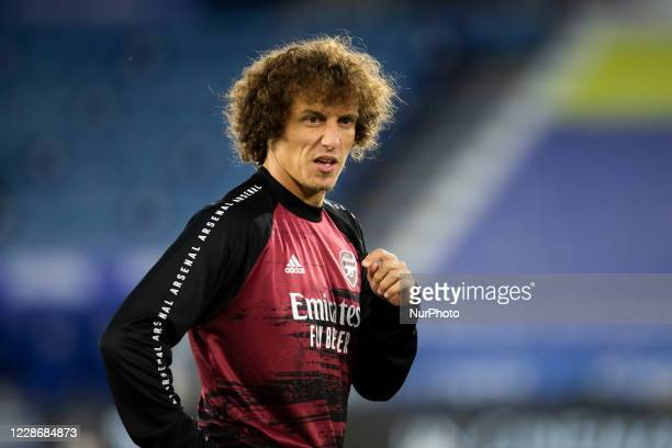 David Luiz of Arsenal during the Carabao Cup match between Leicester City and Arsenal at the King Power Stadium Leicester England on 23rd September...