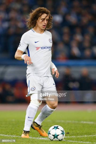 David Luiz of Chelsea during UEFA Champions League Group C soccer match between AS Roma and Chelsea FC at the Olympic stadium in Rome AS Roma...