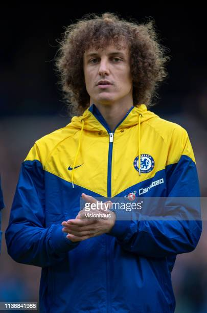 David Luiz of Chelsea lines up before the Premier League match between Everton FC and Chelsea FC at Goodison Park on March 17 2019 in Liverpool...