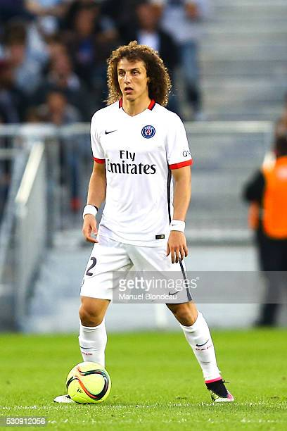 David Luiz of Paris SG during the French Ligue 1 match between FC Girondins de Bordeaux and Paris Saint-Germain at Nouveau Stade de Bordeaux on May...