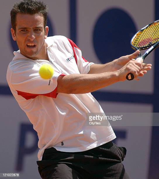 David Luque during his match against Frederico Gil in the first round of the Estoril Open Estoril Portugal on May 1 2006