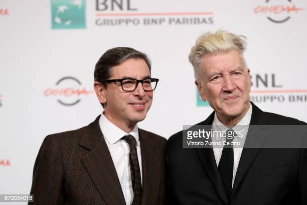 David Lynch and Antonio Monda attend a photocall during the 12th Rome Film Fest at Auditorium Parco Della Musica on November 4 2017 in Rome Italy